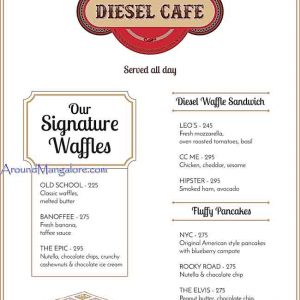 Food Menu - Diesel Cafe, Mangalore