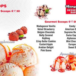 Ice Cream & Food Menu - Hangyo Ice Cream, Mangalore