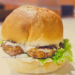 Chicken Steak Burger - Knock Knock Burger Bistro, Mangalore