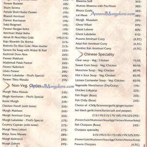 Food Menu - Punjab Da Pind, Mangalore