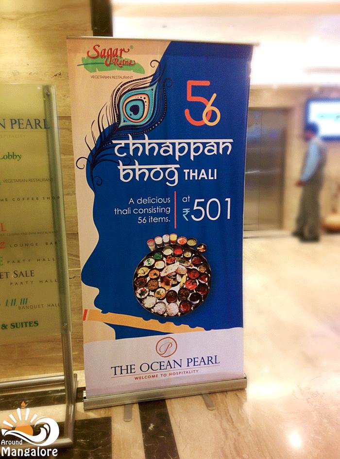 BAKASURA THALI (nka Chappan Bhog), Ocean Pearl, Mangalore