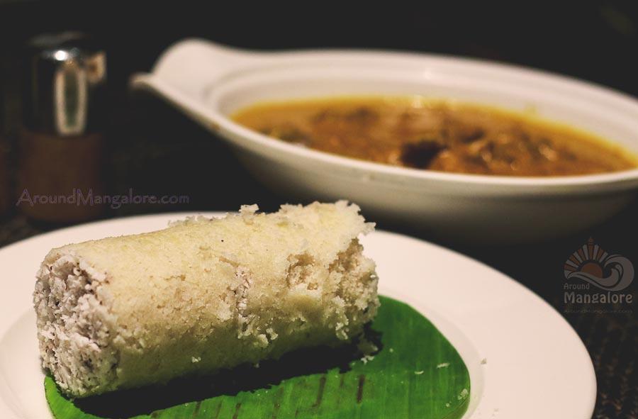 Puttu with Kuttanadu Mappas Aadu (Mutton) - Simbly South, Hotel Prestige, Mangalore
