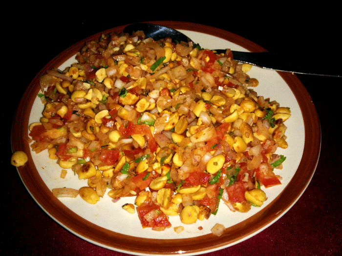 Masala Peanuts (aka Raja Special) - Anupama Restaurant, Hotel Abhiman Residency, Mangalore