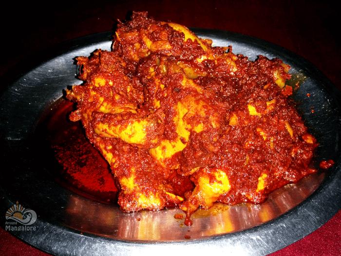 Chicken Ghee Roast - Anupama Restaurant, Hotel Abhiman Residency, Mangalore