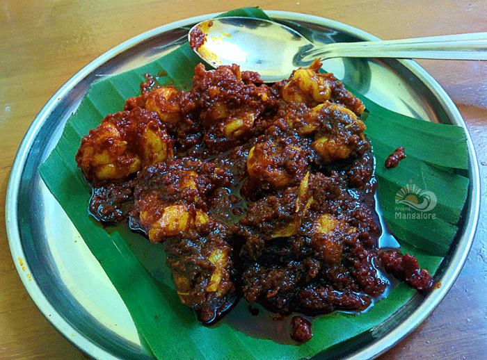 Prawns Ghee Roast - Hotel Bappamas, Mangalore