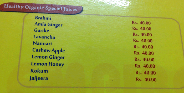 Healthy Organic Special Juices - Empire Desi Foods - Amul Ice Cream Shoppe, Mangalore