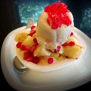 Fruit salad with ice cream - Ideals / Pabbas, Mangalore