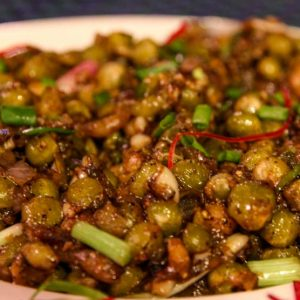 Green Peas Pepper Dry - Madhuvan's Village Restaurant, Yeyyadi, Mangalore