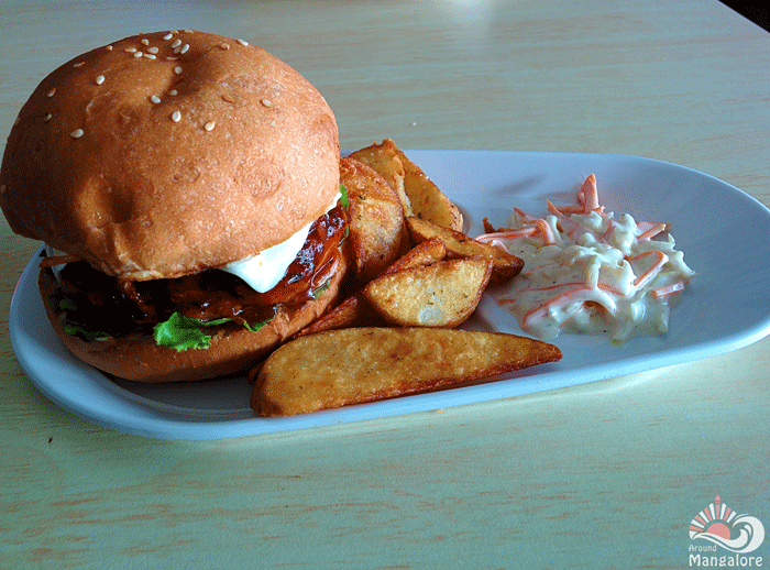 BBQ chicken burger :: Grubbery - Always Hungry (Resto - Cafe), Mangalore