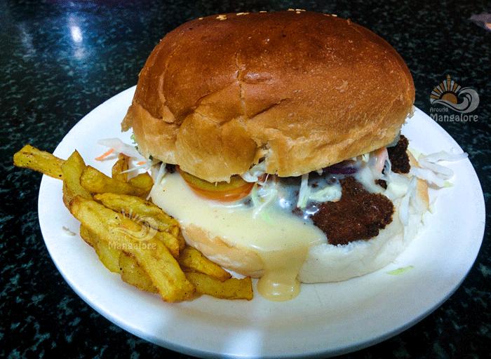 KFC Chicken Burger - The Old Prax Fast Food,Mangalore