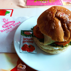 Cottage Cheese Burger - Just Grill - Dinky Dine, Mangalore