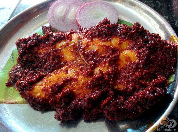 Anjal (Kingfish) Ghee Roast - Machali, Mangalore