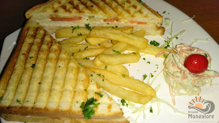 Chicken Salami Sandwich - The Cafe - Kankanady, Mangalore