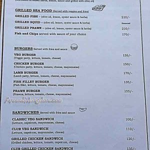 Food Menu - BRIO Café & Grill, Mangalore