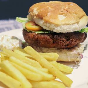 Veg Burger - Kobe Sizzlers, Balmatta, Mangalore