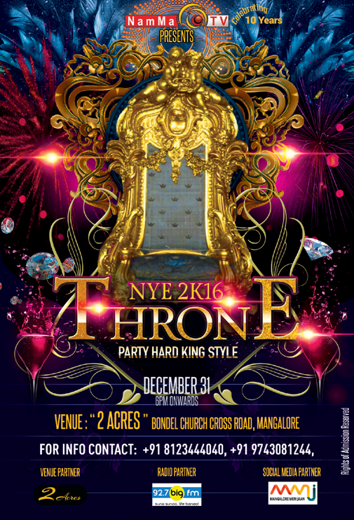 THRONE - New Years Eve 2016