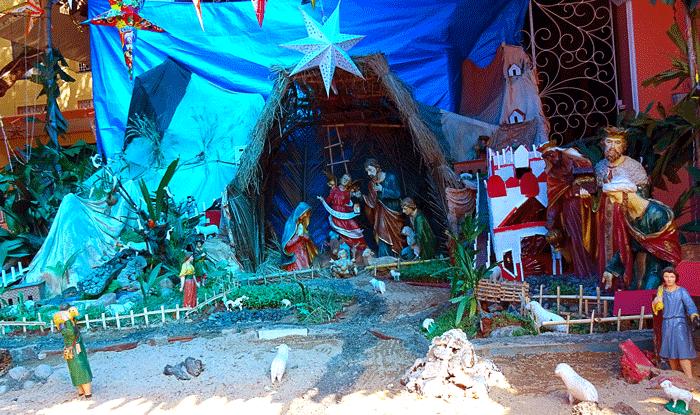 Christmas Crib - Bishop's House - Christmas 2015 - Around Mangalore