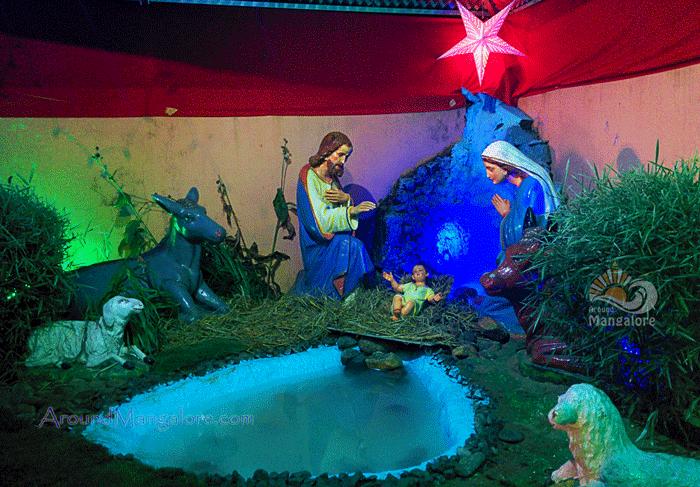 Christmas Crib - St. Joseph Church, Jeppu - Christmas 2015