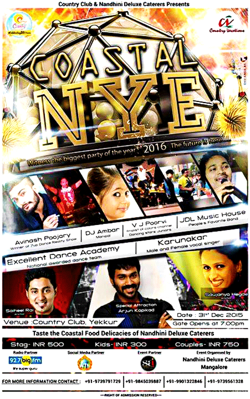 Coastal NYE - Country Club Yekkur