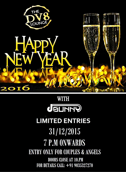 Happy New Year 2016 - The DV8 Lounge, Empire Mall, Mangalore