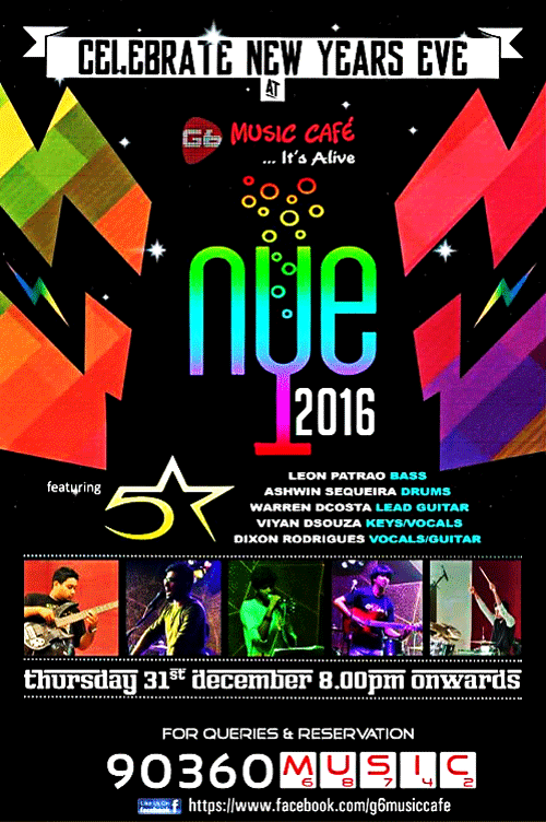 NYE 2016 - G6 Music Cafe