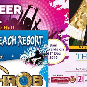 New Year 2016 Party's – Around Mangalore