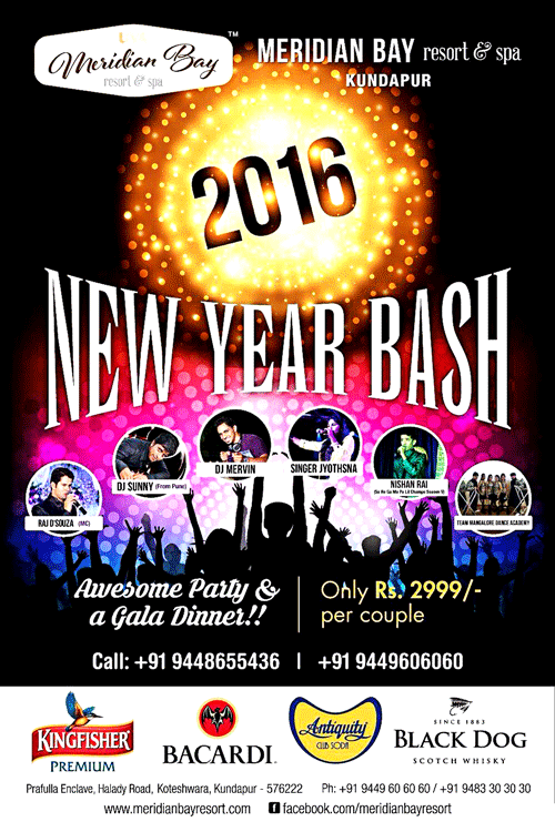 New Year Bash 2016 - Meridian Bay Resort