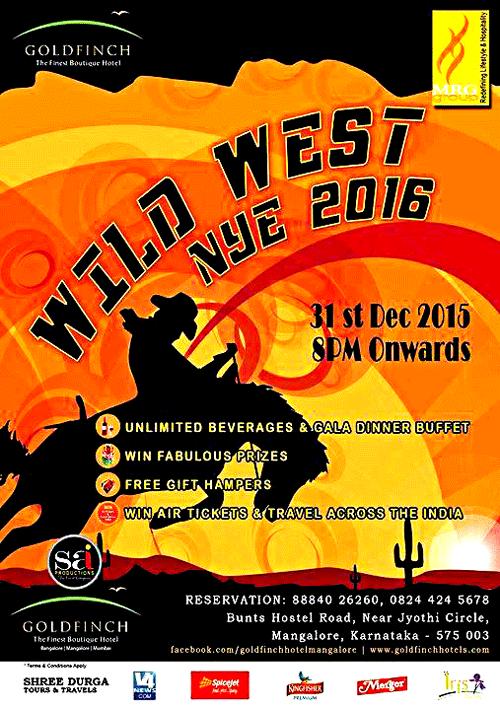 Wild West NYE 2016 - Gold Finch