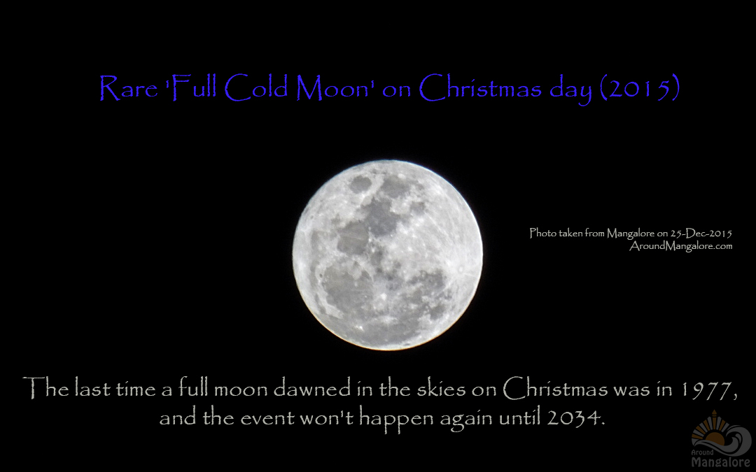 Rare 'Full Cold Moon' on Christmas day (2015)