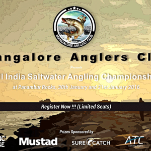 All India Saltwater Angling Championship - Jan 2016 - Panambur Beach, Mangalore - Anglers Club