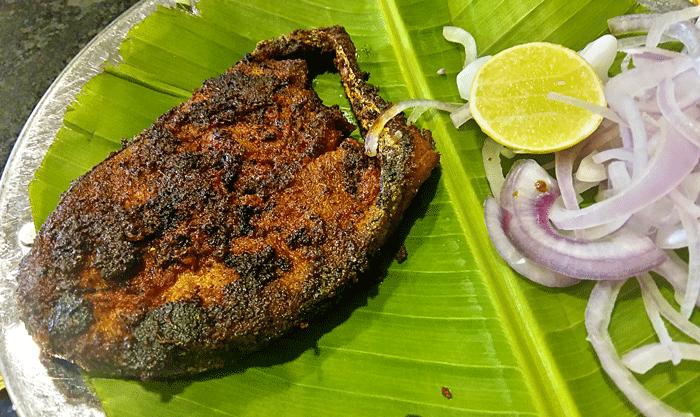 Anjal-Fry - Kairali Oottupura / Malabar Kitchen - Hotel Malabar Regency, Pumpwell, Mangalore