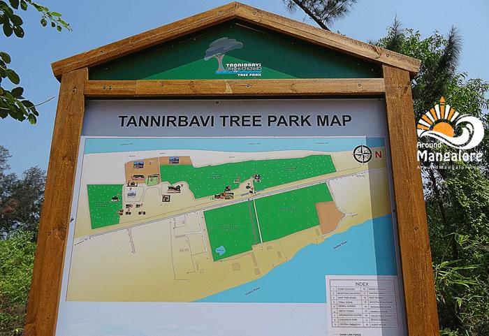 Park Map - Tannirbhavi Tree Park, Near Tannirbhavi Beach, Mangalore - AroundMangalore.com