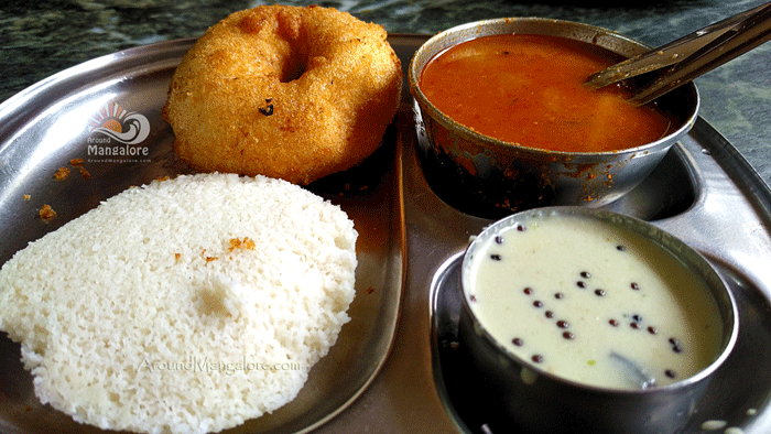 Idli Vada - Hotel Shivabagh - Shivabagh Cafe - Kadri, Mangalore - Vegetarian Family Restaurant
