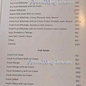 Food Menu - Palm Grove Restaurant – Hotel BMS, Mangalore