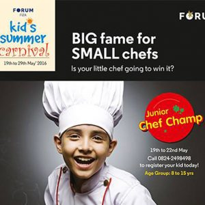 Junior Chef Champ - Kids Summer Carnival - May 2016 - The Forum Fiza Mall