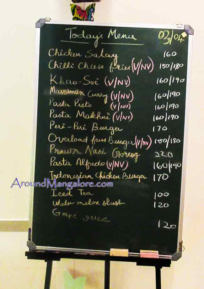 Food Menu - Bakers Treat - Mariams Kitchen - Falnir, Mangalore
