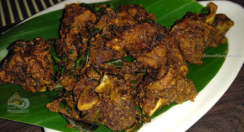 Mutton Pepper Fry - Gauji Gammath - Nirvana - Hotel Roopa, Balmatta, Mangalore
