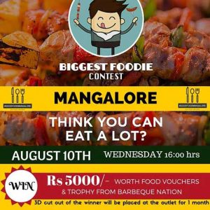 Biggest Foodie Contest Mangalore - 10 Aug 2016 - Barbeque Nation, Mangalore