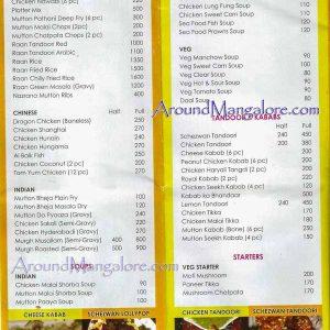 Food Menu - Town Tables Restaurant - Attavar, Mangalore