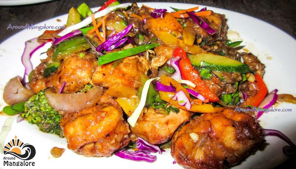 Black Bean Chicken - Sea Shell - Family Restaurant n Bar - Thokkottu, Mangalore