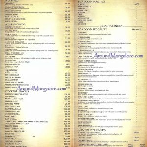 Food Menu - Sea Shell - Family Restaurant n Bar - Thokkottu, Mangalore