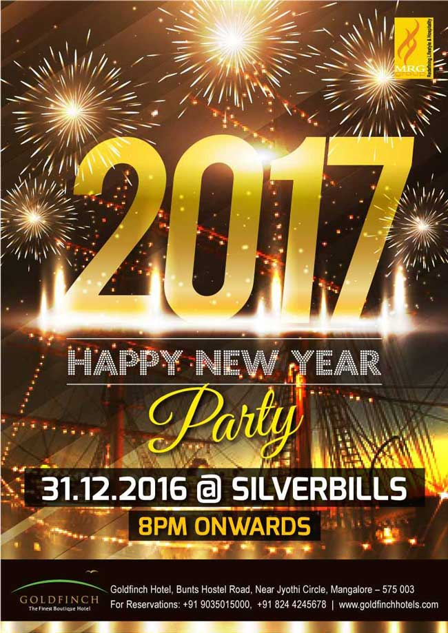 2017 Happy New Year Party - Silver Bills, Goldfinch - New Year 2017