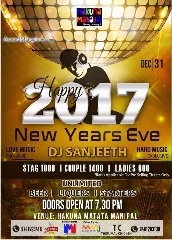 2017 New Year Eve - Hakuna Matata, Manipal - New Year 2017