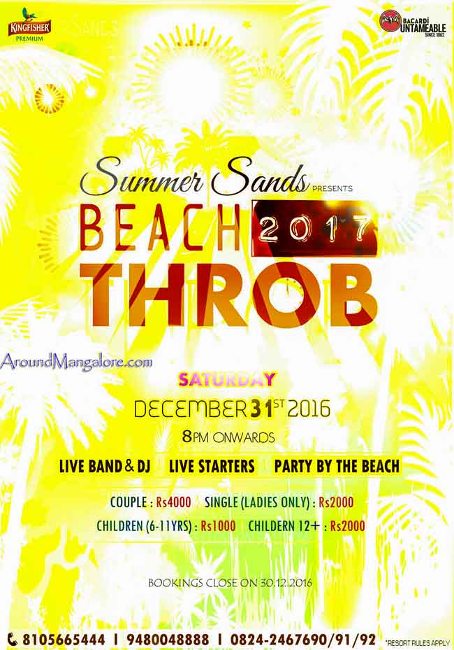 Beach 2017 Throb - Summer Sands - New Year 2017
