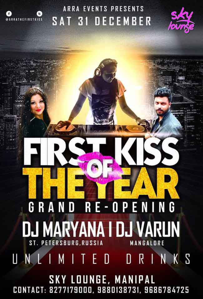 First Kiss of the Year - 31 Dec 2016 - Sky Lounge, Manipal