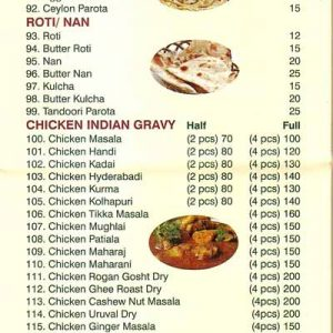 Food Menu - Green Chilli - Bejai, Mangalore