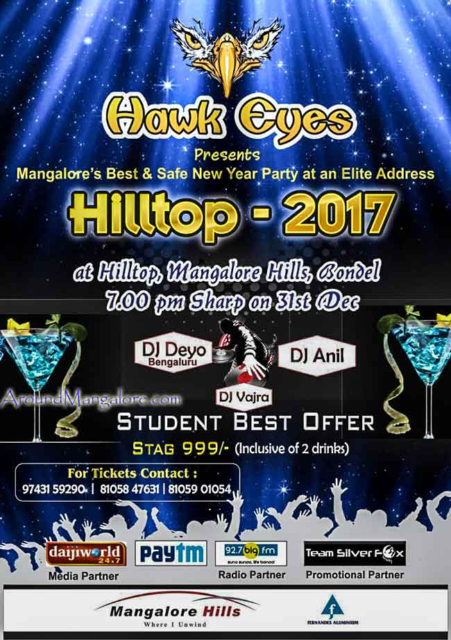 Hilltop 2017 - Student Best Offer - Mangalore Hills - New Year 2017