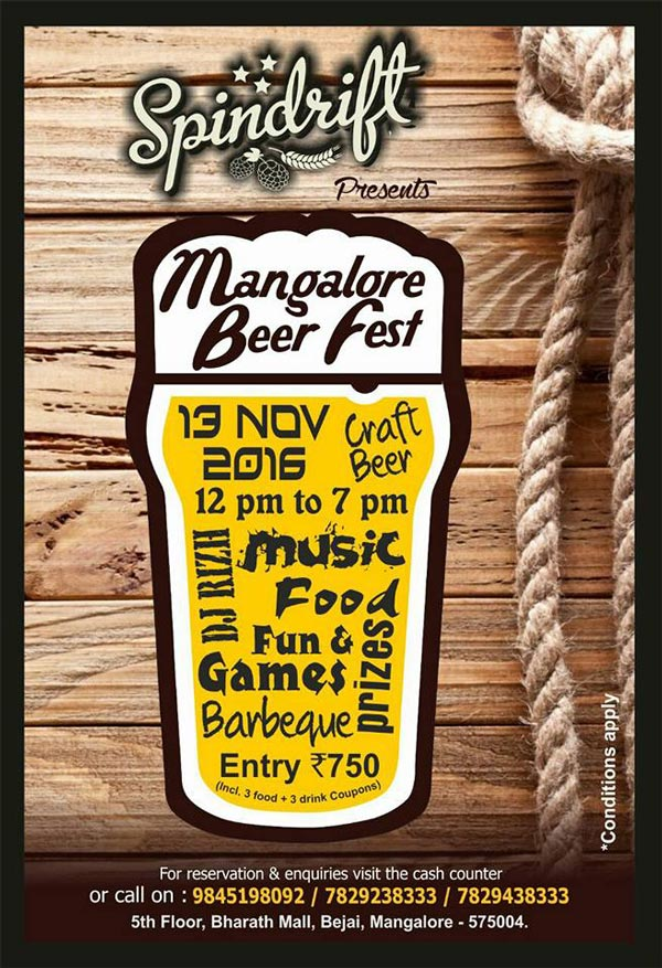 Mangalore Beer Fest - 13 Nov 2016 - Spindrift, Mangalore