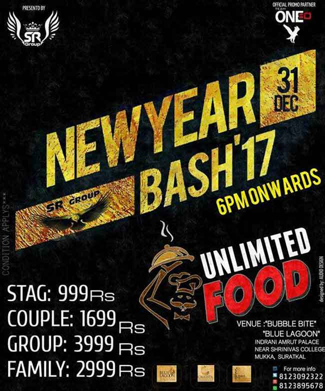 New Year Bash 17 - 31 Dec 2016 - New Year 2017