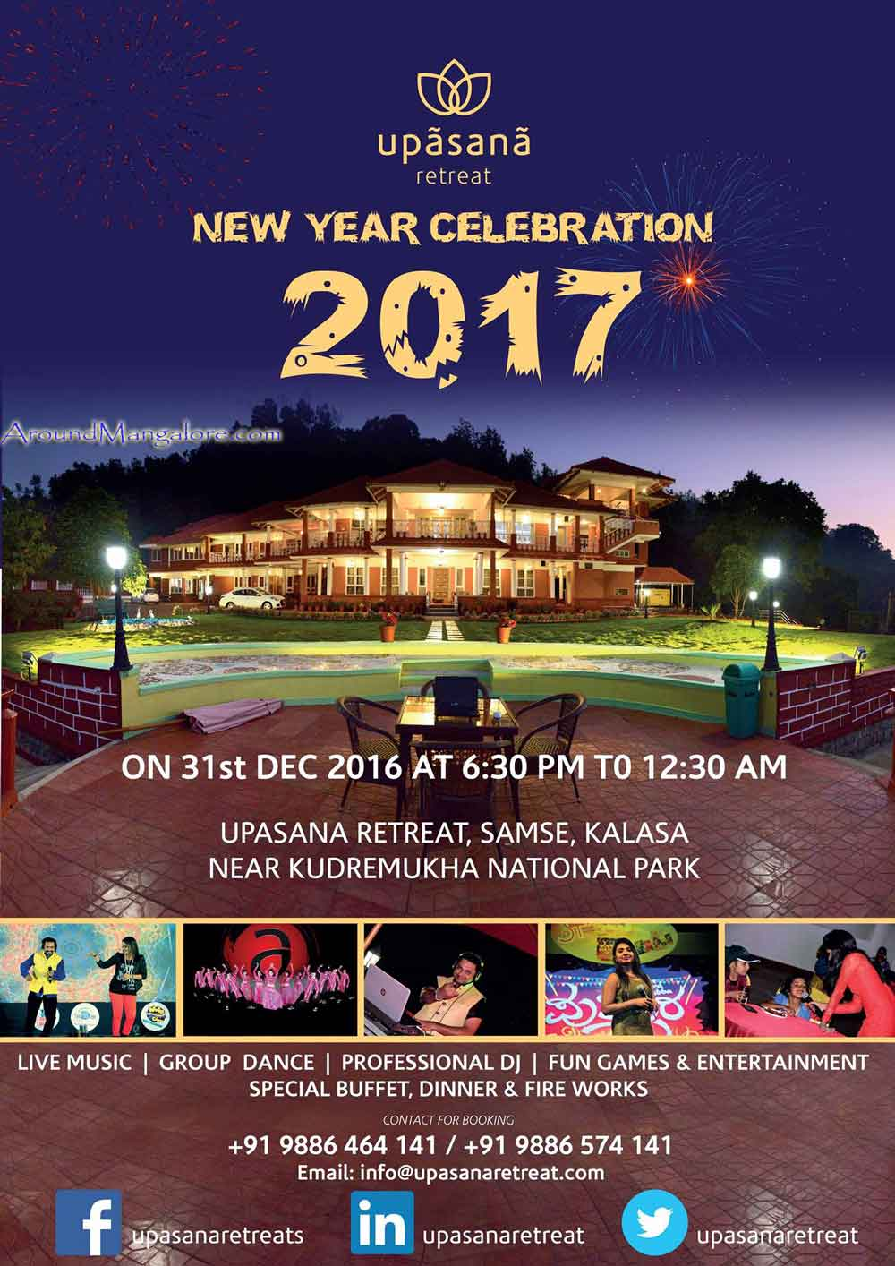 New Year Celebration 2017 - Upasana Retreat, Kalasa